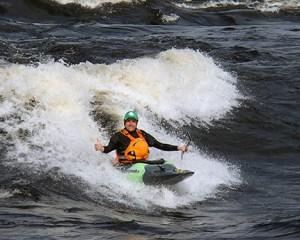 Mark Hirst kayaking