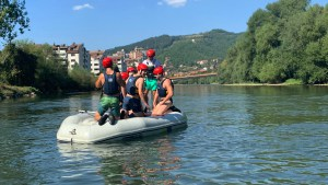 Rafting field lessons for Uni of Belgrade students