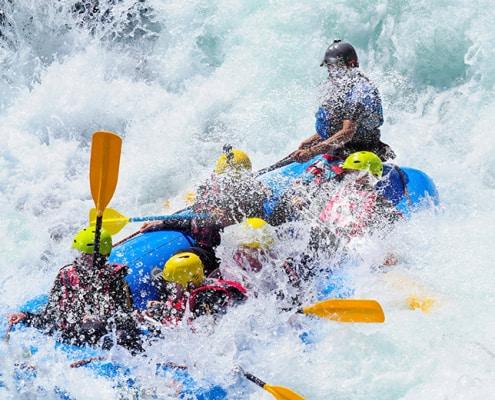 Sustainable raft tourism - rafting