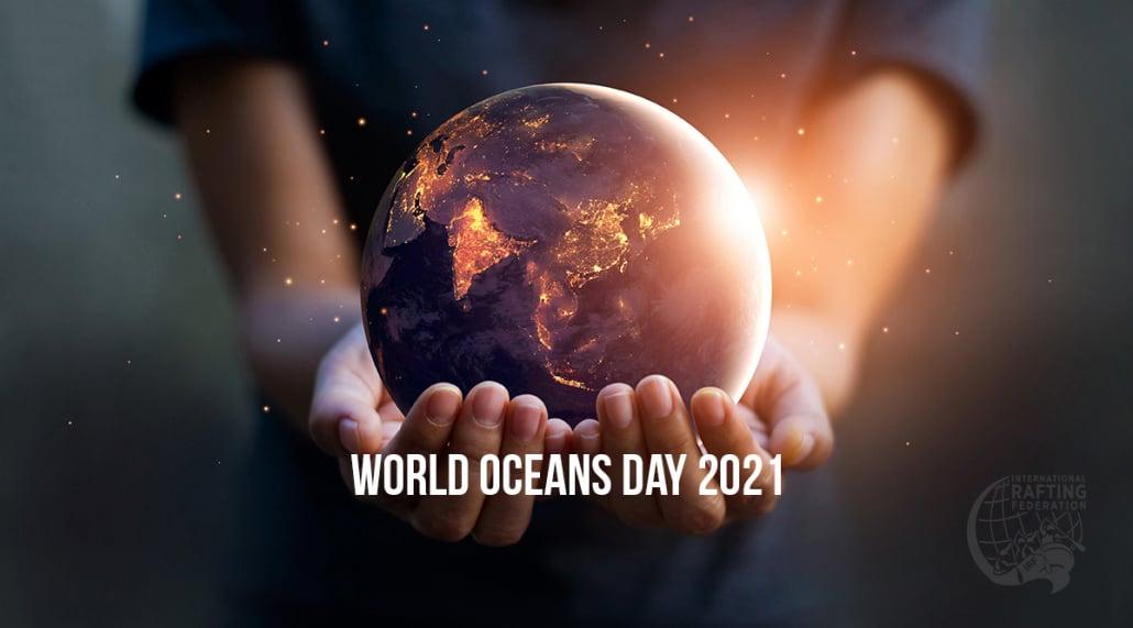 World Oceans Day 2021 hands